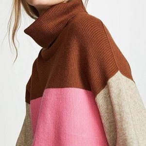 Free People Oversized Knit Colorblock Sweater L
